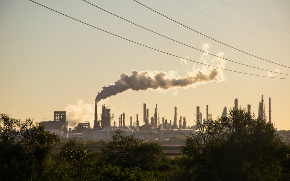 Oil,Refineries,Polluting,Carbon,And,Cancer,Causing,Smoke,Stacks,Climate